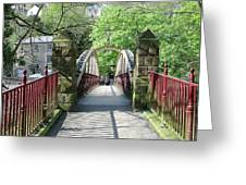 Jubilee Bridge - Matlock Bath Greeting Card
