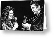 June Carter And Johnny Cash Collection Greeting Card