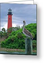 jupiter Inlet Lighthouse Greeting Card
