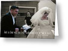 Just Married Quote Greeting Card