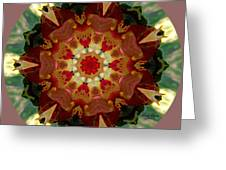 Kaleidoscope - Warm And Cool Colors Greeting Card by Deleas Kilgore