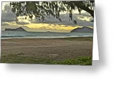 Kaohikapu Island Sunrise Greeting Card