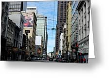 Karney Street San Francisco  Greeting Card