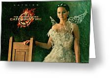 Katniss Hunger Games Catching Fire Greeting Card