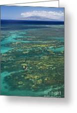 Kayaking Through Beautiful Coral Greeting Card