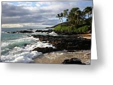 Ke Lei Mai La O Paako Oneloa Puu Olai Makena Maui Hawaii Greeting Card by Sharon Mau
