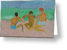 Kids At The Beach Greeting Card