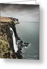 Kilt Rock Waterfall - Isle Of Skye Greeting Card