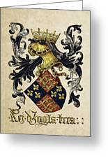King Of England Coat Of Arms - Livro Do Armeiro-mor Greeting Card by Serge Averbukh