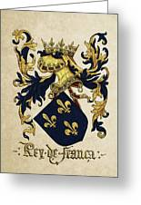 King Of France Coat Of Arms - Livro Do Armeiro-mor  Greeting Card