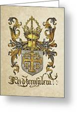 Kingdom Of Jerusalem Coat Of Arms - Livro Do Armeiro-mor Greeting Card by Serge Averbukh