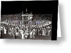Kkk Services Capital Horse Show Grounds National Photo Co Arlington Virginia August 9 1925-2014 Greeting Card