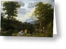 Klassische Landschaft Mit Arkadischer Greeting Card