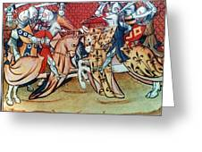 Knights In Tournament Greeting Card
