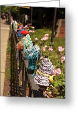 Knit Fence Protectors Greeting Card
