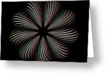 Knotplot 9 - Use Red-cyan 3d Glasses Greeting Card