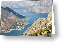 Kotor Bay In Montenegro Greeting Card