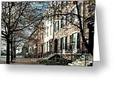 La Fayette Park In Autumn Greeting Card