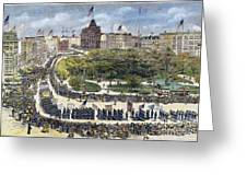 Labor Day Parade, 1882 Greeting Card