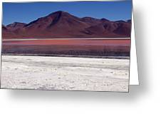 Laguna Colorada And Mountains Greeting Card