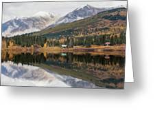 Lake Cabins In Fall Greeting Card