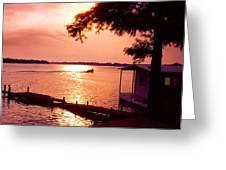 Lake Chicot Sunset Greeting Card