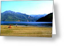 Lake Crescent Wa Greeting Card