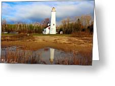 Lake Huron Lighthouse Greeting Card