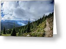 Lake Mcdonald From Mt Brown Trail - Glacier National Park Greeting Card