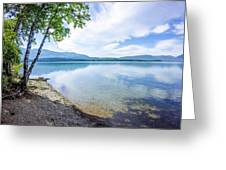 Lake Mcdonald In Glacier National Park Montanaa Greeting Card