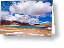 Lake Meniques In Chile Greeting Card