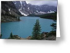 Lake Moraine In Canada Greeting Card