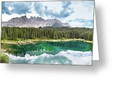 Lake Of Carezza - Italy Greeting Card