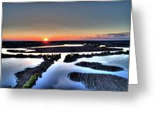 Lake Poygan Sunset Greeting Card