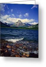 Lake Sherburne, Glacier National Park Greeting Card