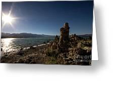 Lakefront And Sunset At Mono Lake, Eastern Sierra, California, U Greeting Card
