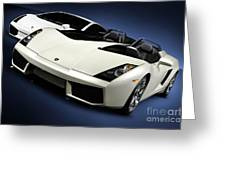Lamborghini Super Cars Greeting Card