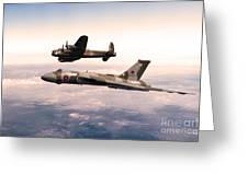 Lancaster And Vulcan Greeting Card