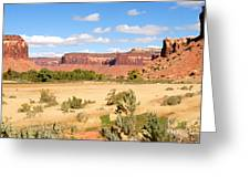Land Of Canyons Greeting Card