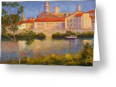 Landscape At Arles France Greeting Card
