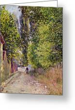 Landscape Near Louveciennes Greeting Card
