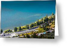Landscape Of Lake In The South Island, Queenstown New Zealand  Greeting Card