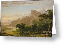 Landscape Scene From Thanatopsis Greeting Card