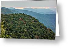 Landscape View At Cedar Mountain Overlook Greeting Card