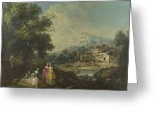 Landscape With A Group Of Figures Greeting Card