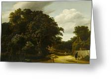 Landscape With A Village Road Greeting Card