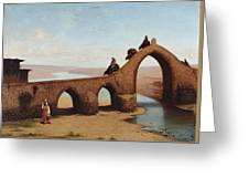 Landscape With Bridge Greeting Card