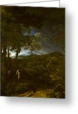 Landscape With Elijah And The Angel Greeting Card
