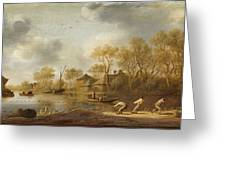 Landscape With Fishers Greeting Card