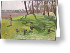 Landscape With Goatherd Greeting Card